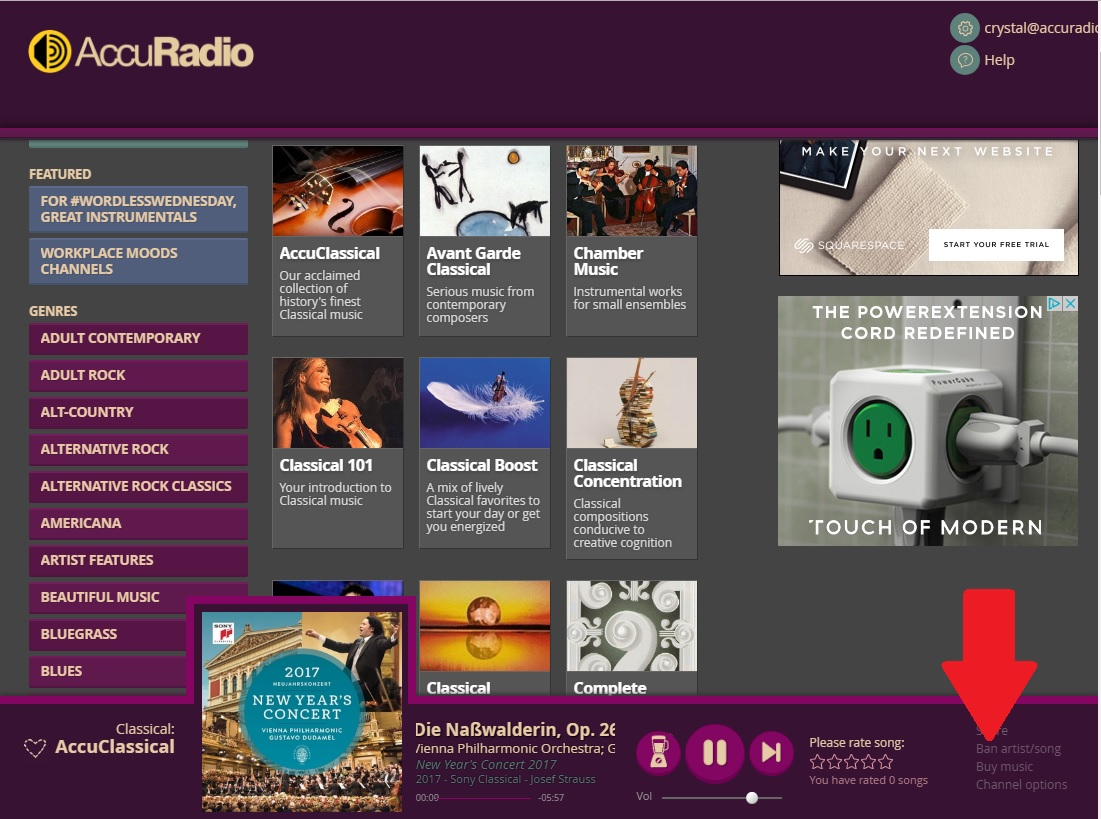 Banning artists and/or songs – AccuRadio Support